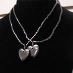 2 Pack Hematite Necklace w/ Heart Pendant .60 per set
