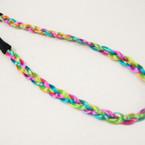 CLOSEOUT Multi Color Hair Headband w/ Elastic Back 9 pc pk .25 ea