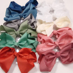 "6"" Mixed E Color Gator Clip Fashion Bow .54 ea"