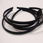 4 Pk Satin Headband All Black Pk 48 pcs per pk