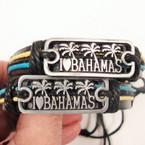 I Love Bahama's Nautical Silver Plaque Leather Bracelets .54 ea
