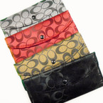 "3.5"" X 7"" C Print Ladies Wallets Asst Colors .60 ea"