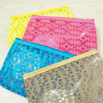 "5"" X 7"" Asst Color Mesh Cosmetic Bag w/ Mirror .57 ea"