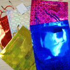 """Best Quality Hologram Gift Bags 8.25"""" X 11"""" Only .43 ea"""