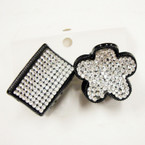 """2 Pack 1"""" & 1.25"""" Crystal Stone Jaw Clips 2 Styles .50 per 2 pk"""