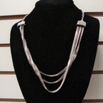 "22"" Gold & Silver Chain Necklace w/ Triple Snake Chain  .58 ea"