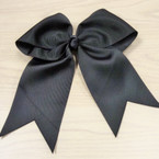 "6"" X 8"" All Black Cheer Bow on Gator Clip .54 ea"