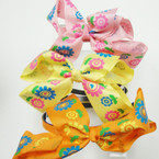 "Wrapped Fabric Headband w/ 4"" Spring Flower Bow .41 ea"