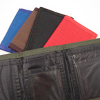 Mixed Color Nylon Velcro Tri Fold Wallets .56 ea