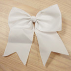 "6"" X 8"" All Bright White Color Gator Clip Bow w/ Tails .54 ea"