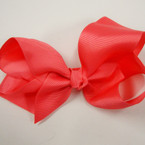 "6"" All Coral Color Gator Clip Fashion Bow .54 ea"