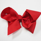 "6"" All Red Color Gator Clip Fashion Bow .45 ea"