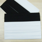 "3 Pack Soft & Stretchy 2"" Black & White  Headbands .54 per set"