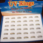UV Changing Color Glitter Band Rings 36 per display bx ONLY .40 ea