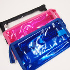 "4.5"" X 9"" Lg Size Transparent Color Cosmentic Bag .56 ea"