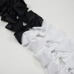 "6"" Large Size Black & White Color Gator Clip Bow  .50 ea"