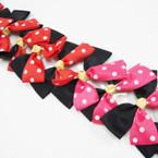 "5"" Black & Poka Dot Ribbon Fashion Gator Clip Bow  .54 ea"
