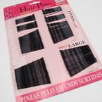 150 Pc all Black Bobbie Pins .52 per card