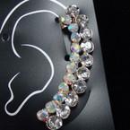 """2"""" Clear & AB Crystal Stone Ear Cuffs .52 ea"""