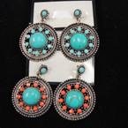 Round Shape Bohemain Style Beaded Earring  .56 ea