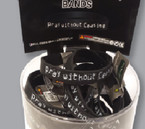 """Pray Without Ceasing"" Black Band Bracelets 36 pc unit .27 ea"