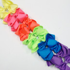 "6"" Gro Grain Bow on Gator Clip Asst Neon Colors .54 ea"