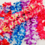"20"" Bulky Hawaiian Leis Multi Colors & Solids .58 ea"