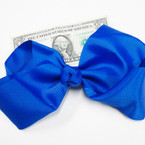 "8"" Jumbo Gator Clip Bow All Royal Blue ON SALE .54 ea"