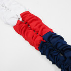 "Bonus Buy 5"" White,Red,Navy Color Gator Clip Bows 24 per pk ONLY .33 ea"