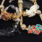 Gold & Silver Fashion Bracelet w/ Wrapped Seed Beads .50 ea