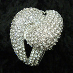 "2.5"" Wide Hi Quality Clear Cry. Stone Hinged Bracelet sold by pc  $3.00 ea"