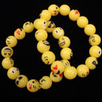 Trendy Emoji Bead Stretch Bracelet 12 per pk .52 each