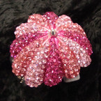 "2.5"" Umbrella Style Hinged Bracelet Covered in Pinktone Crystals sold by pc $2.50 ea"