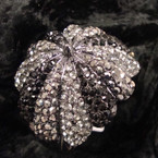 "2.5"" Umbrella Style Hinged Bracelet Covered in Blacktone Crystals sold by pc $2.50 ea"