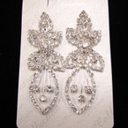 "Best Quality 2.75""  Rhinestone Fashion Earrings sold by pc $ 1.50 ea"