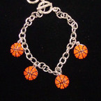 Best Quality  Crystal Stone Basketball Charm Bracelet sold by pc $2.00 ea
