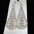 "Best Quality 3""  Fashionable Rhinestone Fashion Earrings sold by pc $ 1.50 ea"