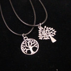 Leather Cord Necklace w/ Cast Metal Tree of Life Pend.2 styles 24 per pack .33 ea