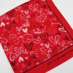 "Red Heart Theme Bandana 22"" Square  .50 ea"
