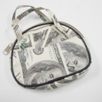 "4.5"" $ 100 Money Print DBL Handle Coin Purse .56 ea"