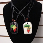 DBL Leather Cord Necklace w/ Africa Map Pendant 2 Styles per dz .50 ea