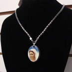 "18"" Magnetic Closure Hematite Necklace w/ Mother Mary Pendant .54 ea"