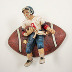 """2.5"""" Football Theme Poly Resin Anywhere Magnets 12 per pk  CLOSEOUT  .21 ea"""