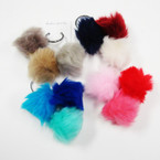 Hot Seller 3 Part Faux Fur Fashion Keychain ONLY .58 ea