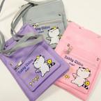 "5"" X 7"" 3 Zipper Lg. Strap Side Bag Cute Cat Theme ONLy .58 ea"