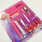 10 PC Manicure Set Carded 9 sets ONLY .35 ea set