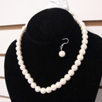 10MM Ivory Color Glass Pearl Necklace Set ONLY .54 ea