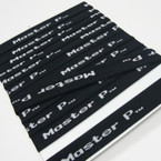 "CLOSEOUT 1"" Wide Master P Print All Black Headbands  .21 ea"