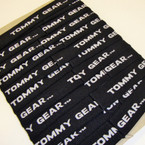 "CLOSEOUT 1"" Wide Tommy Print All Black Headbands  .21 ea"