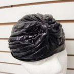 All Black Pleated Turbin Wet Look SPECIAL  .55 ea